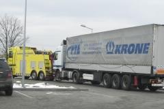 Holowanie uszkodzonego pojazdu TIR