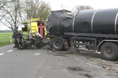 Volvo pozostałość po wypadku droga 17