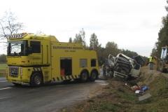 Volvo FH żwir - przeładunek