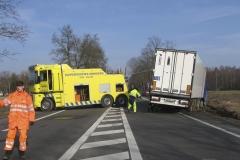 Droga K17 wypadek TIR